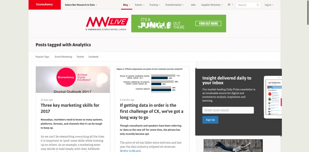 Econsultancy analytics posts