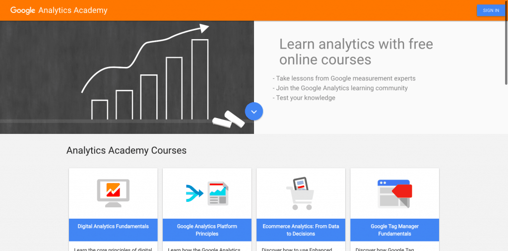 Analytics Academy Screenshot