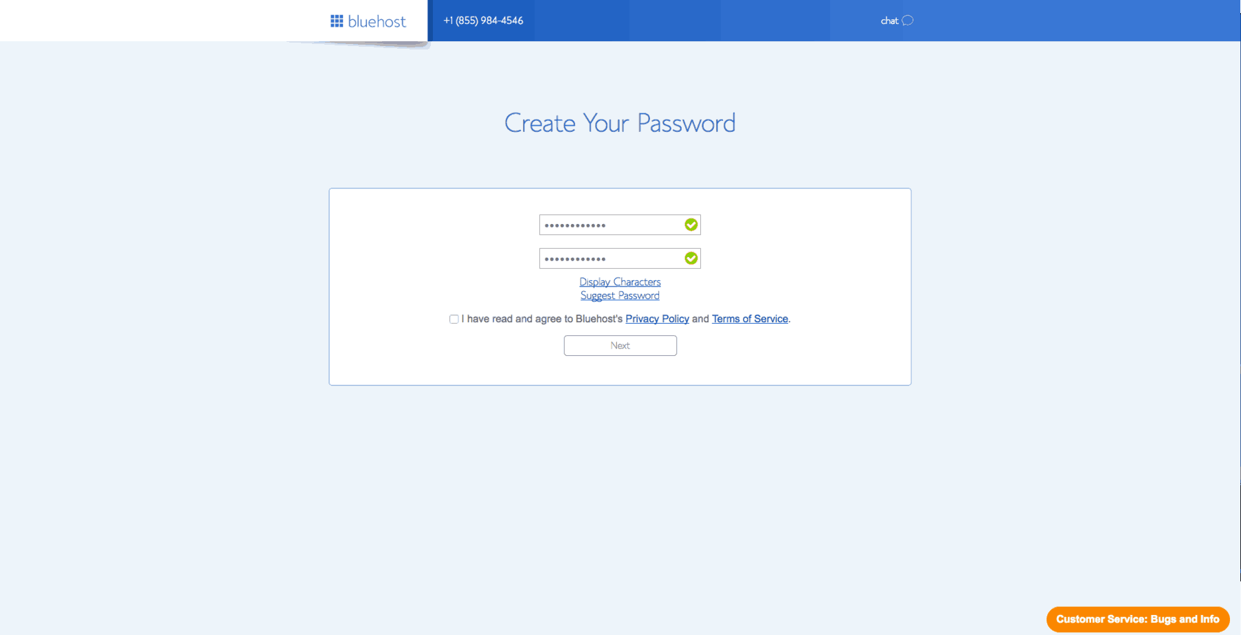 bluehost - Terms of Service