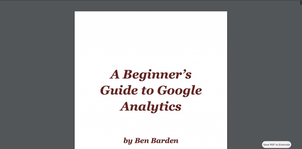 Ben Barden Analytics Guide