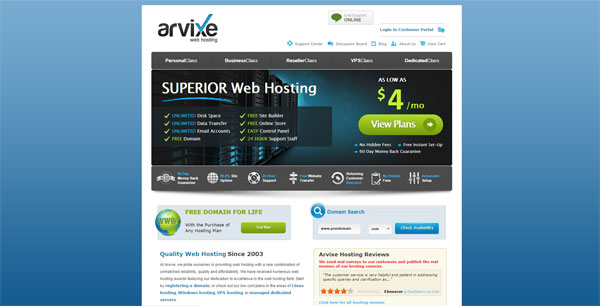 Arvixe Reviews
