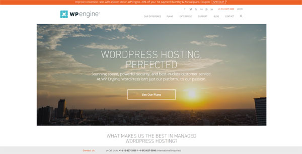 WordPress Hosting WP Engine For Under 300