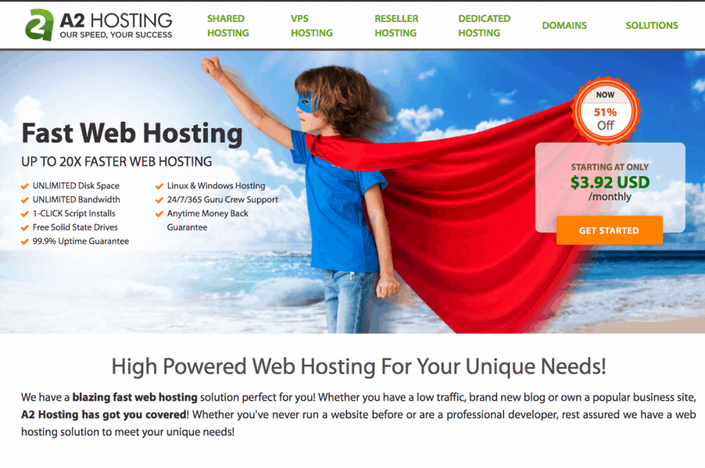 A2 Hosting Speed