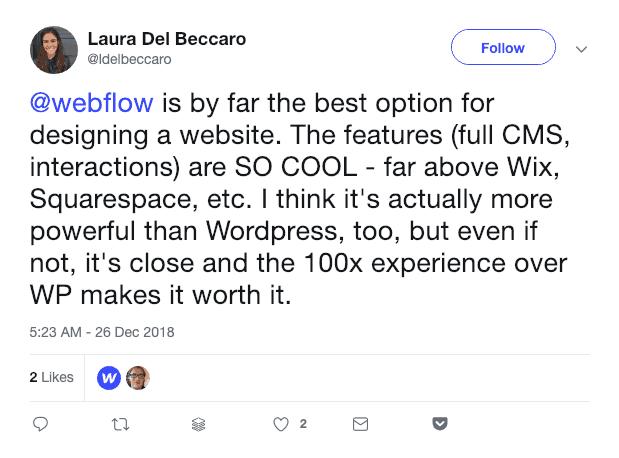 Webflow praise
