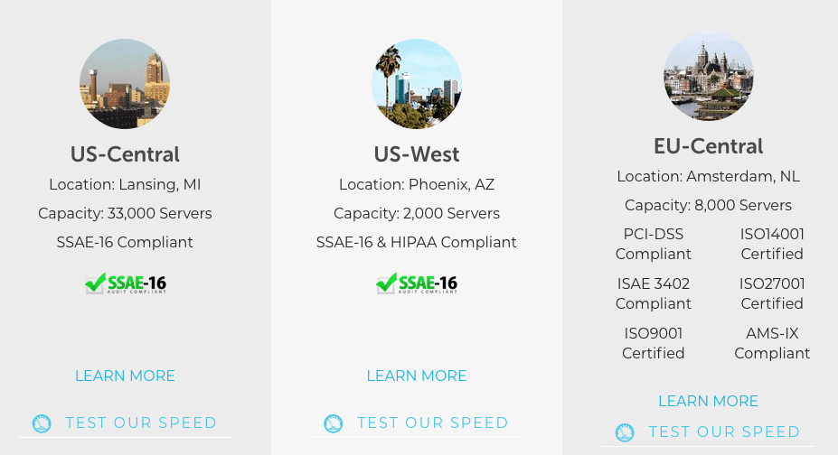 liquid web servers in us and europe