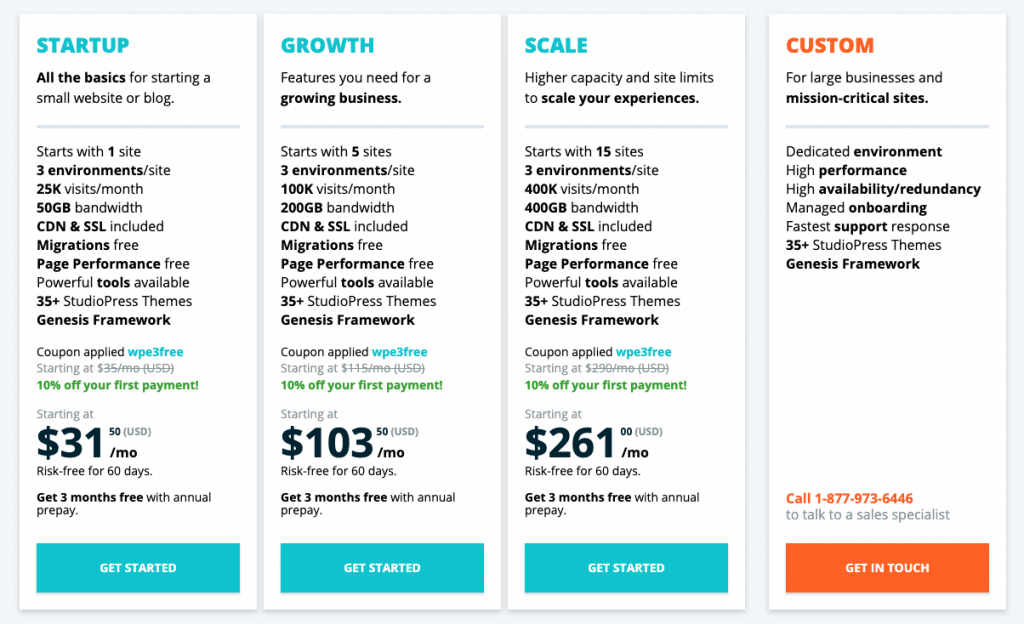 wp engine pricing discount