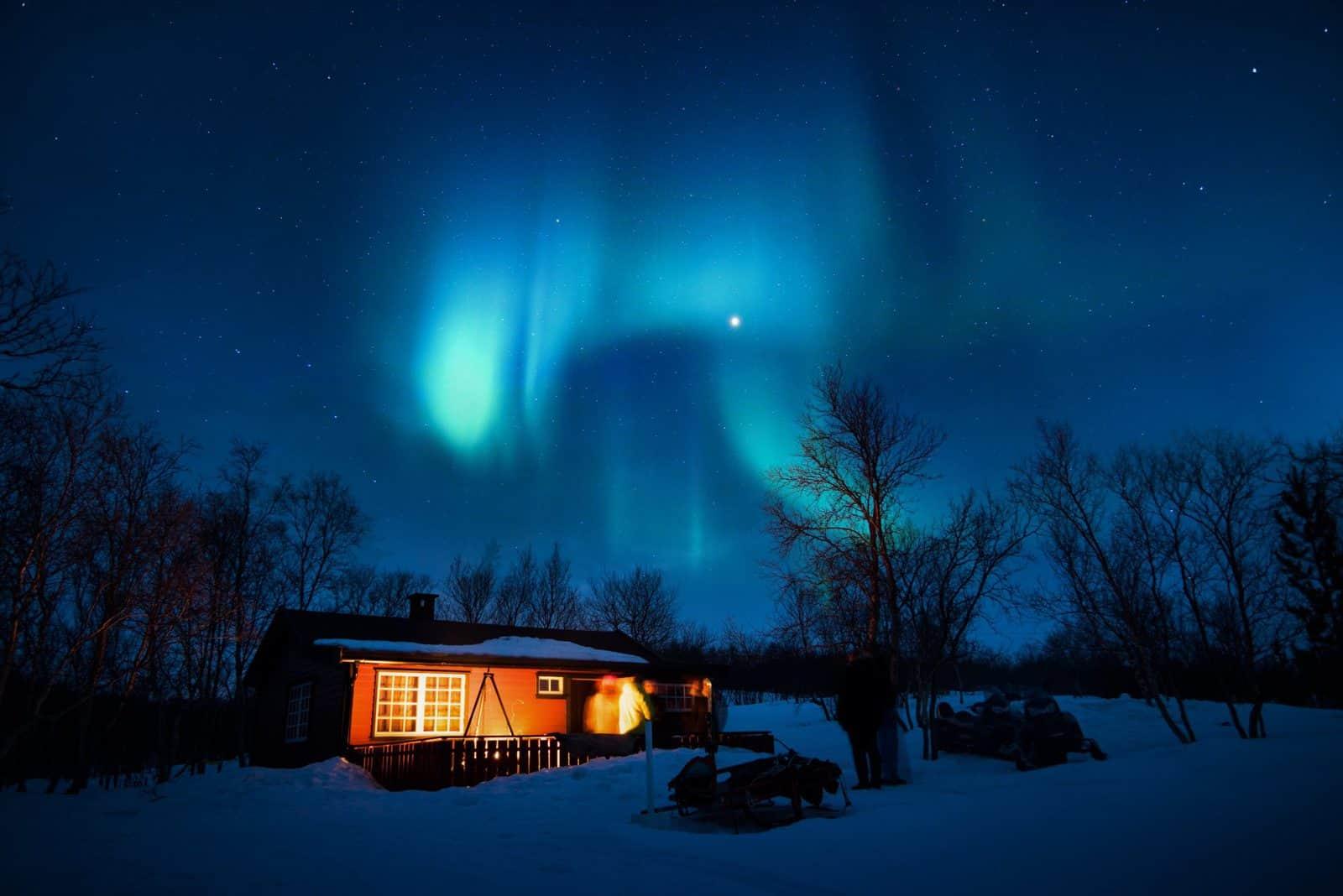 nature, aurora, snow