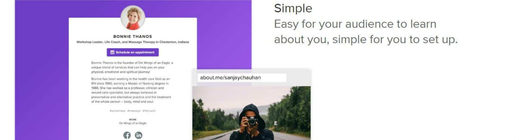About.me Website Builder