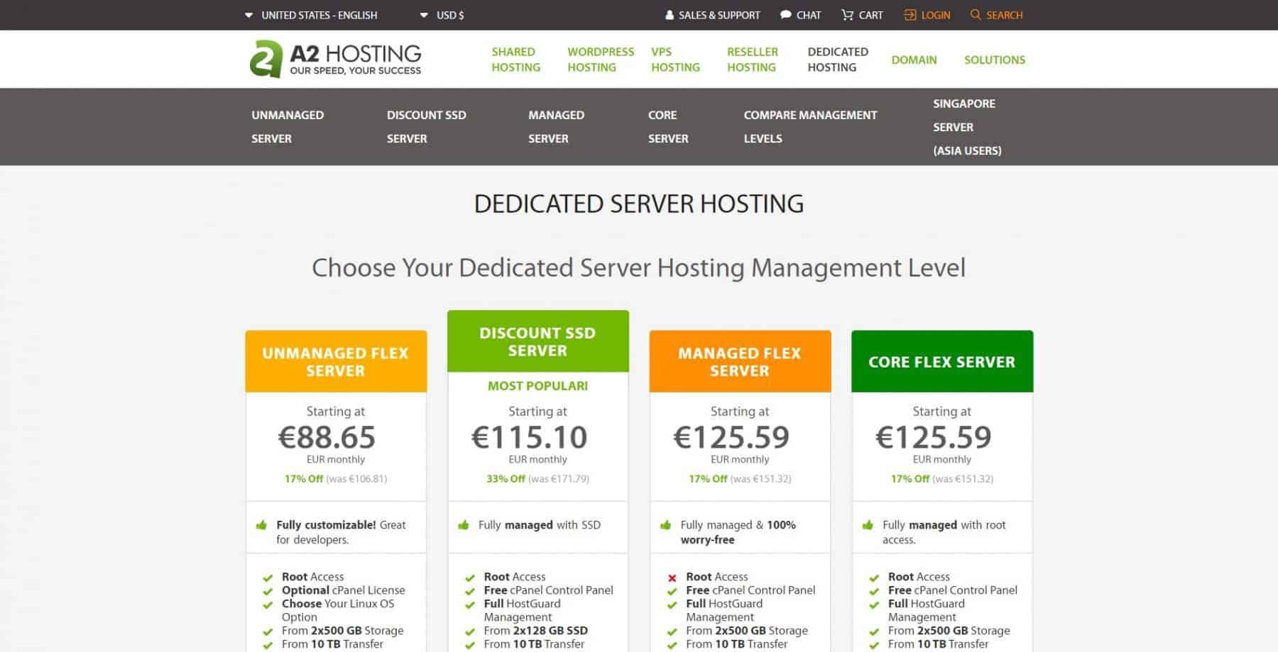 a2 hosting dedicated