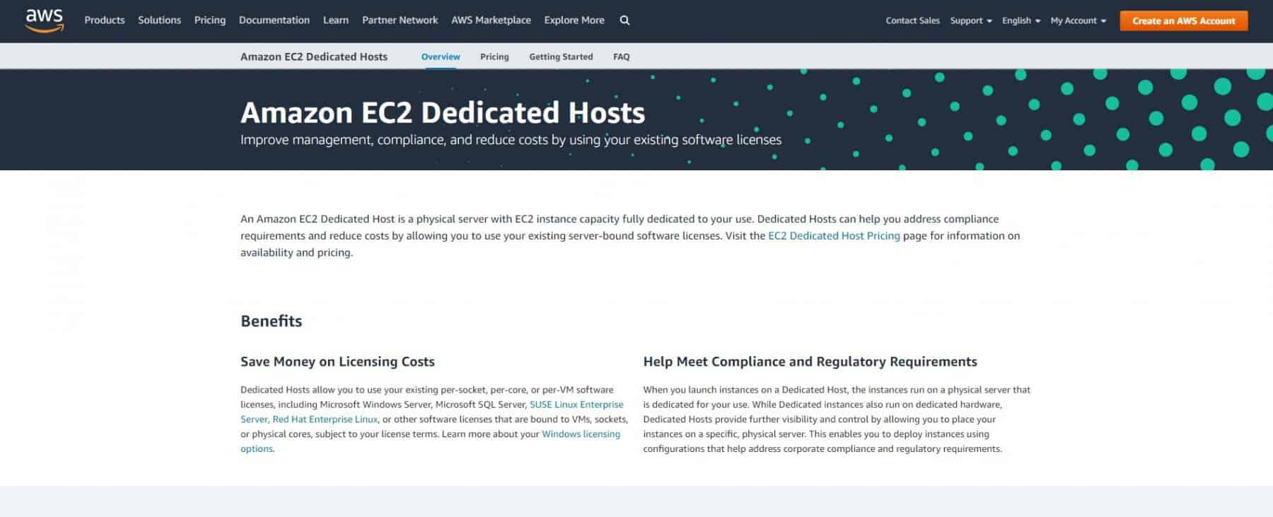 amazon ec2 dedicated