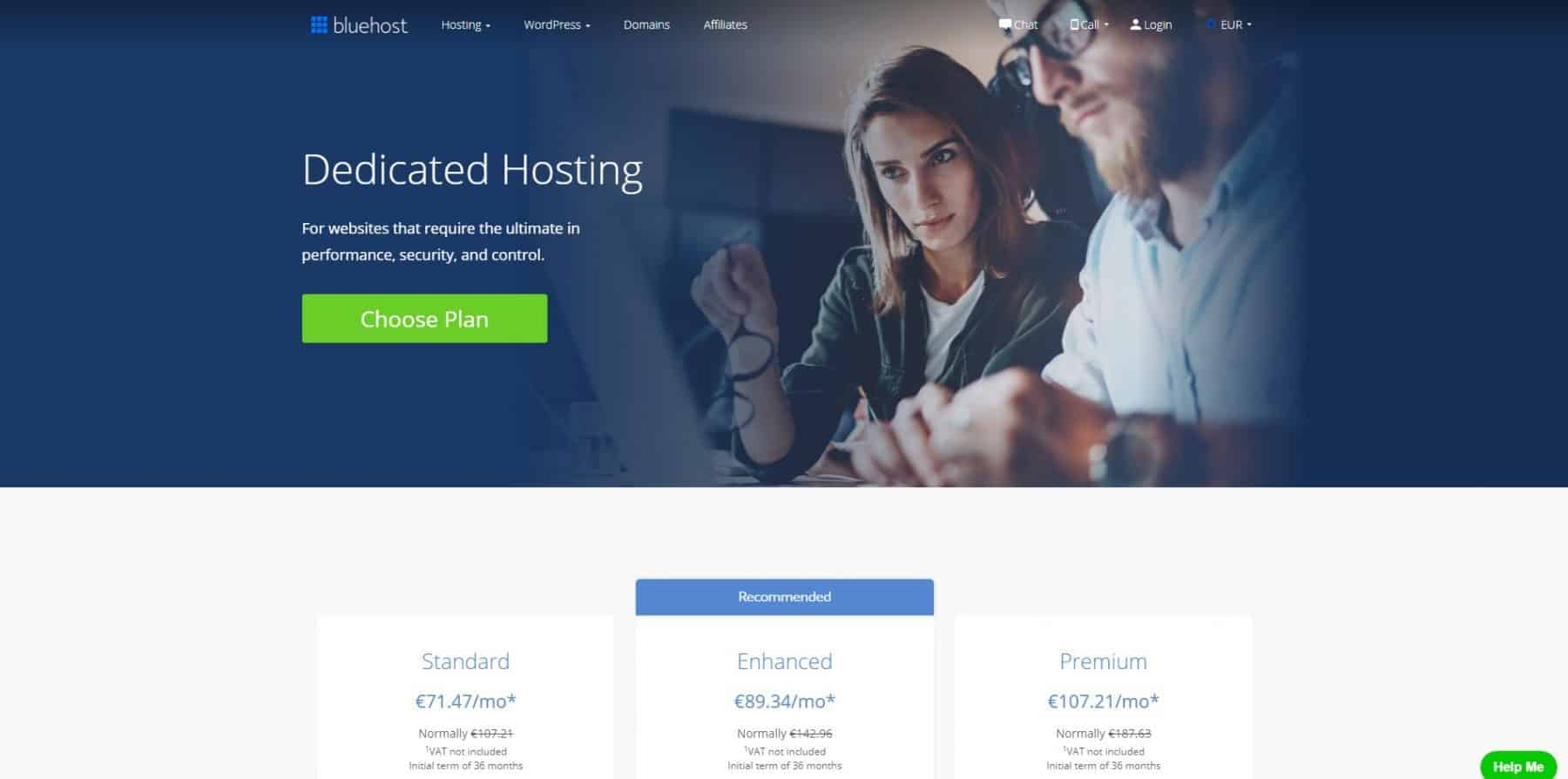 bluehost dedicated