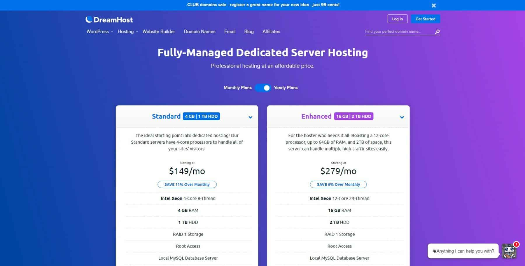 dreamhost dedicated