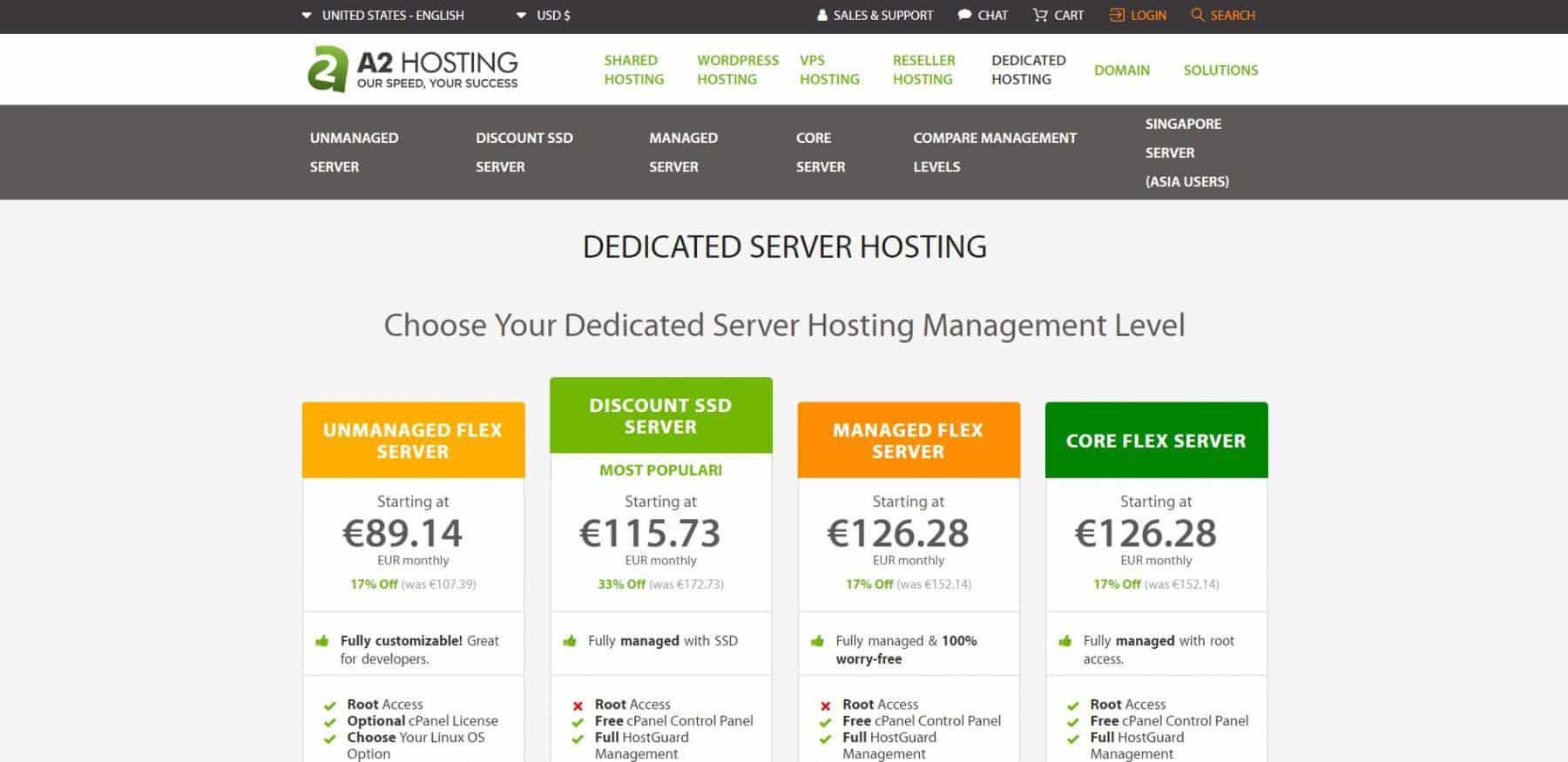 a2 hosting dedicated july 19