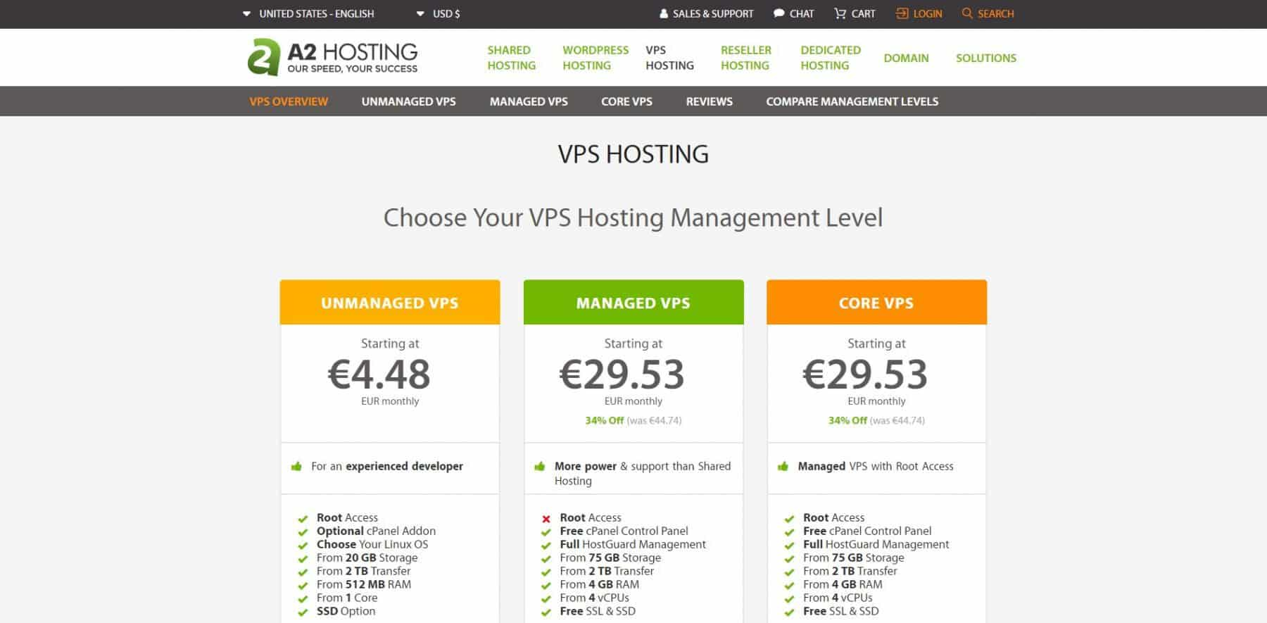 a2 hosting vps hosting