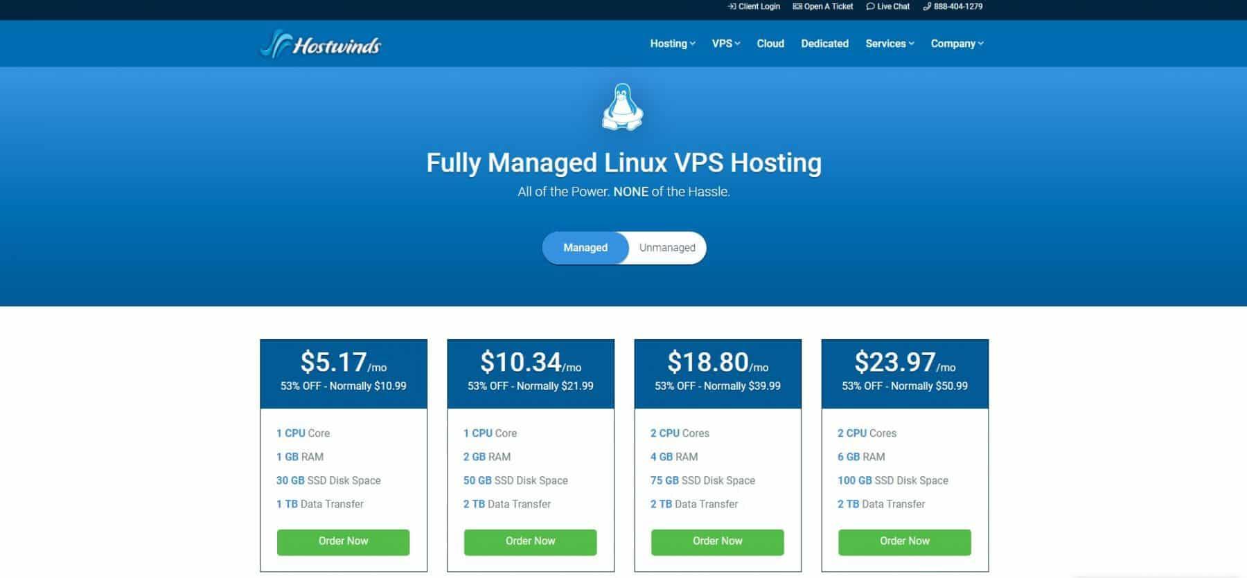 hostwinds vps hosting