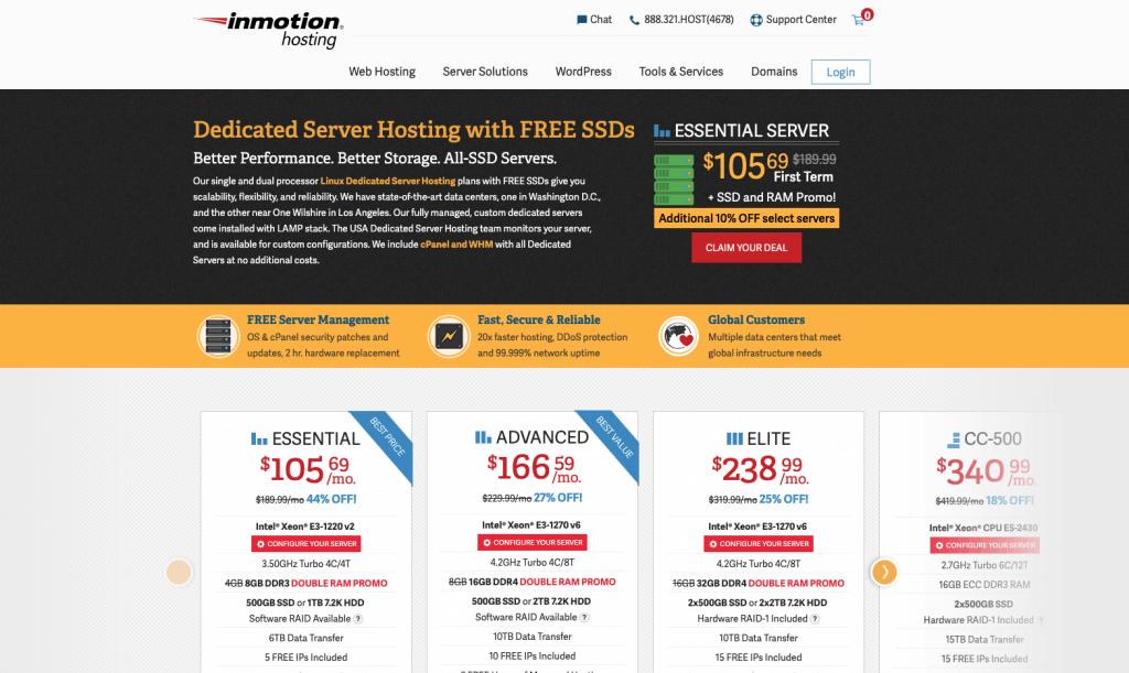 inmotion dedicated hosting
