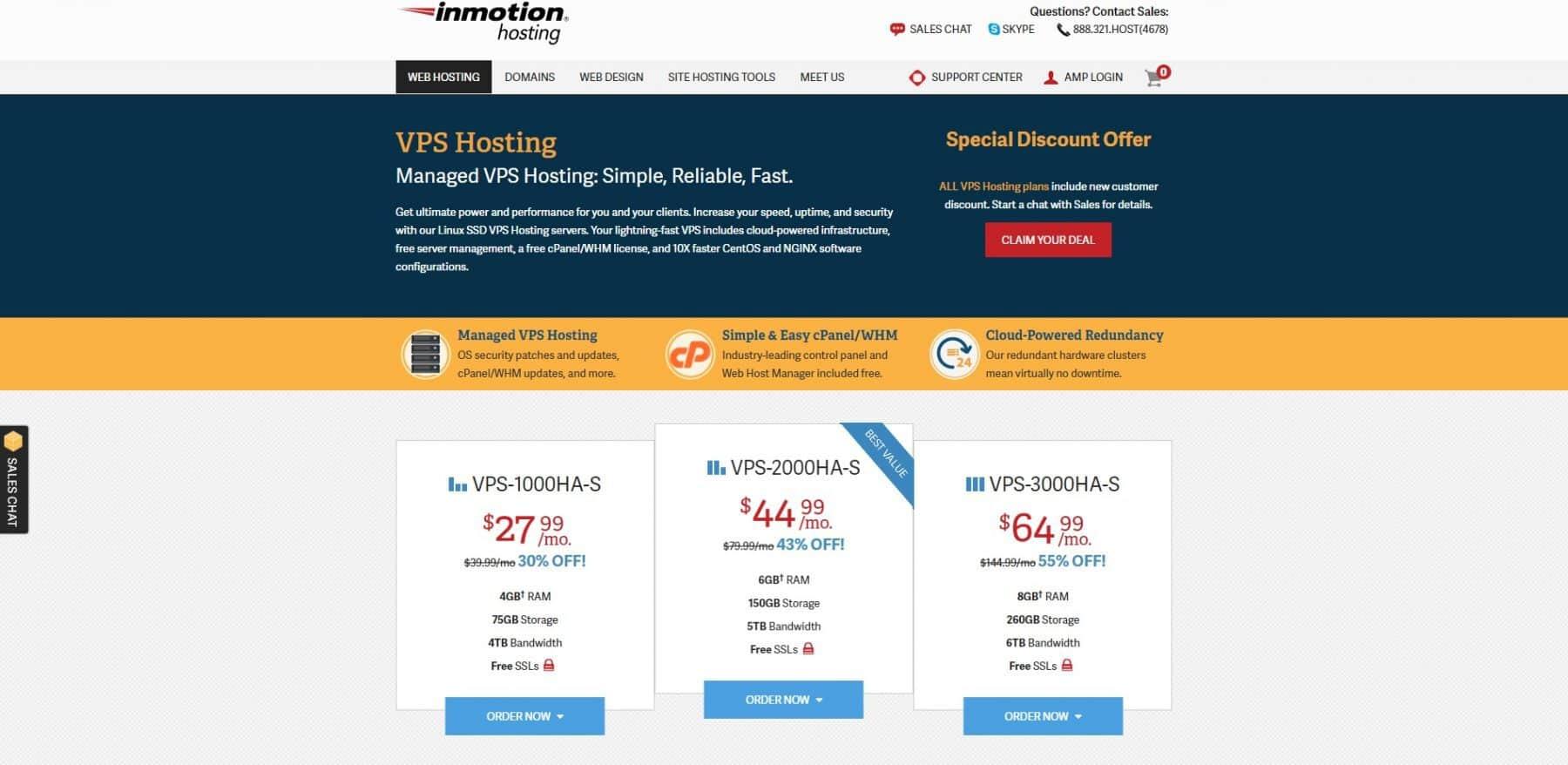inmotion hosting managed vps hosting