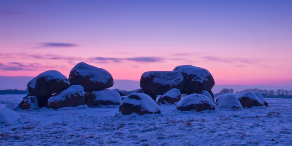 Dutch Dolmen in snow